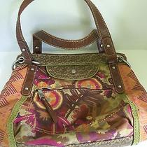 Fossil  Long Live Vintag Fabric Plastic and Metal Shoulder Purse Photo