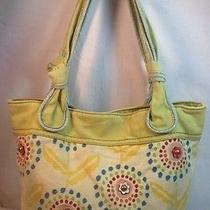 Fossil Long Live Vintage Cotton Canvis Water Color Shoulder Tote Bag  Photo