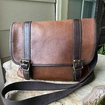 Fossil Long Live Vintage Large Crossbody Messenger Bag Satchel Unisex Photo
