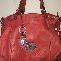 Fossil Long Live Vintage Large  Leather Tote Handbag Photo