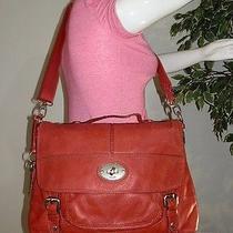 Fossil Long Live Vintage Maddox Red Laptop Messenger Shoulder Bag Satchel Purse Photo
