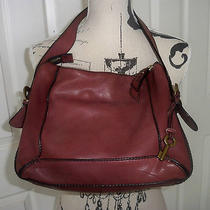 Fossil Long Live Vintage Reissued Mahogany Mauve Brown Leather  Purse Photo
