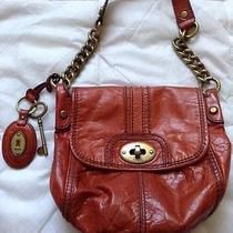 Fossil  Long Live Vintage Small Orange /red Shoulder  Bag Photo