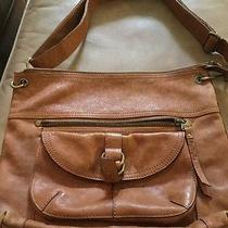 Fossil Long Live Vintage Tan Leather Shoulder Bag Purse Messenger Crossbody Tote Photo