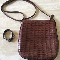 Fossil Lot (1) Cross Body Purse Handbag (1) Key Bracelet Photo