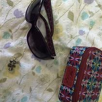 Fossil Lot Sunglasses Earrings and Jewelry Case Photo