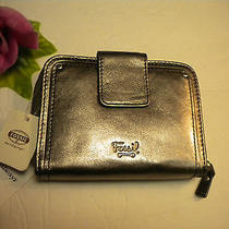 Fossil Macy Zip Multi Pewter Leather Nwt Photo