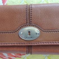 Fossil Maddox Flap Clutch Wallet Chestnut Color Nwt Photo