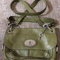 Fossil Maddox Green Crossbody Handbag Messenger Photo