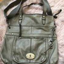 Fossil Maddox Leather Tote Crossbody Messenger Convertible Bag Gray Photo