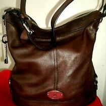 Fossil Maddox Lovely Large Brown Rugged Leather Shoulder Bag Very Nice Euc Photo