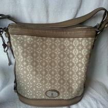 Fossil Maddox Metallic Signature Bucket Purse - Euc - Comes W/ Dust Bag Photo