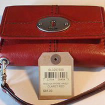 Fossil Maddox Phone Wristlet New With Tags Free Shipping  Photo