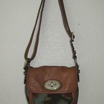 Fossil Maddox Twist Lock Tapestry Crossbody Nwt Zb5401918 Photo