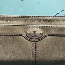 Fossil Maddox Wallet Leather Zip Accordion Clutch Organizer Gently Used Photo