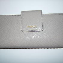 Fossil Madison Clutch  Wallet  Billfold Gray Women's Accessory Mothers Day Gift Photo
