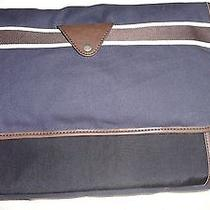 Fossil Man Lane Messenger Shoulder Crossbody Lap Top Computer Business Bag Navy Photo