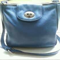 Fossil Marlow Blue Leather Crossbody Photo