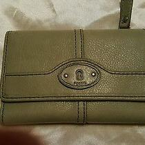 Fossil Marlow Multifunction Wallet Leather Mint Green Photo