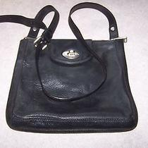 Fossil  Marlow Top Zip Cross-Body Bag Black Leather Photo
