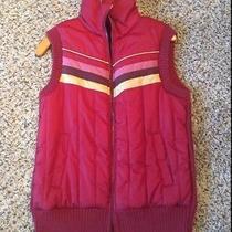 Fossil Maroon Puffer Sweater Vest Xl Photo