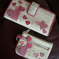 Fossil Matching Wallet and Coin Purse Pink Hearts  Photo