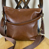 Fossil Maya Leather Brown Hobo Shoulder Crossbody Purse Bag Tote Photo