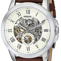 Fossil Me3052 Men's Leather Automatic Brown Watch Photo