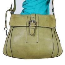 Fossil Medium Green Leather Crossbody Shoulder Hobo Tote Satchel Purse Bag Photo