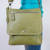 Fossil Medium Green Leather Shoulder Crossbody Hobo Tote Satchel Purse Bag Photo