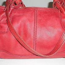 Fossil Medium Size Satchel Bag in Deep Red Photo