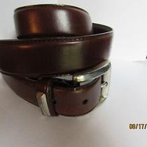 Fossil Men Belt Size L Brown Leather Bt7825 Photo