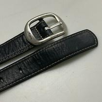 Fossil Men's Antique Saddle Leather Belt Size M Silver Tone Buckle T39 Photo