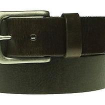 Fossil Men's Berlin Dark Brown Leather Belt Size 34 Photo