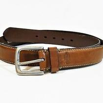 Fossil Men's Brown Leather Belt Size 38 Photo
