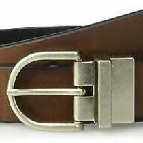 Fossil Men's Dress Belt Black Brown Size Medium M Reversible Leather 42 886 Photo