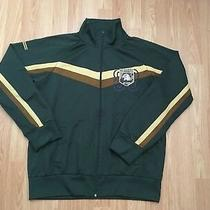 Fossil Men's Front Zip Jacket Size L Green Brown Eagle Mountain Rescue Patch Vtg Photo