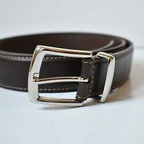 Fossil Mens Genuine Leather Belt Dark Brown Size 38 Photo