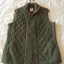 Fossil Men's Green Sleeveless Zip-Up Vest Size Medium Euc Like New  Photo
