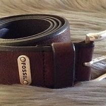 Fossil Men's Italian Leather Brown Belt Sz 36 / C Photo