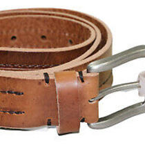 Fossil Men's Keith Collection Center Stitched Genuine Leather Belt Nwt Photo