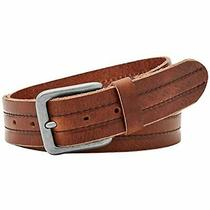Fossil Men's Keith Genuine Leather Belt Brown Sz 44 Photo