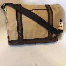 Fossil Mens Ladies Parker Khaki Messenger Brief Laptop Bag Style Sbg1018250 Nwt Photo