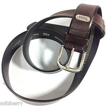 Fossil Men's Leather Belt 42 Xl Pre-Owned Free Shipping Photo