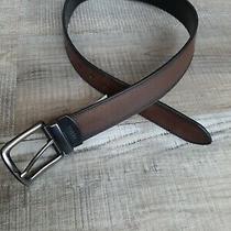 Fossil Men's Leather Belt Reversible Black Brown Size 32  Photo