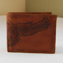 Fossil Men's Leather Storm Eagle Traveler Bifold Wallet Brown   Photo