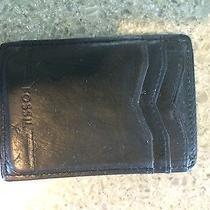 Fossil Men's Leather Wallet Money Clip Slim Photo