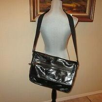 Fossil Men's Messenger Laptop Bag Flapped  Waxy  Leather Bag. 16.5