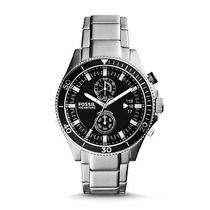 Fossil Men's Silver Stainless-Steel Quartz Watch Classic Styling Mineral Crystal Photo