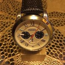 Fossil Men's Watch Grant Chronograph Brown Leather Watch Fs 5021 Nwt 115 Photo